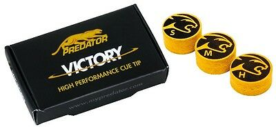 2  Predator Victory Cue Tips  - MEDIUM- 8 Layered laminated 14MM Pool Cue Tip