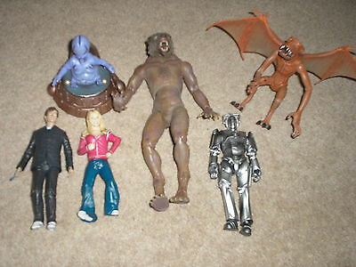 """Doctor Who 5"""" Character Option Action Figures X6 ROSE, 10TH DOC,CYBERMAN,etc"""