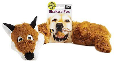 Large Shake a fox Dog Puppy Squeaky Plush Throw Interactive Soft Raggy Toy