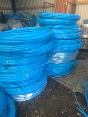 5x Coils Of Wavin MDPE Blue Service Water Pipe 25mm ( 250 Meters )