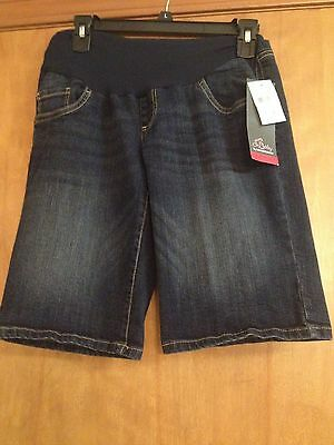 NWT Oh Baby by Motherhood Maternity Size M (8-10) Secret Fit Belly Denim Shorts