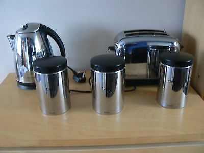 Russell Hobbs Cordless Kettle/Toaster and matching tea/coffee/sugar storage jars