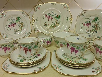 "Vintage Tuscan China Tea Set "" Wisteria"" No.9670  Vintage Tea Rooms Partys"
