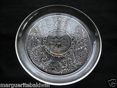 """Anchor Hocking Glass Clear Sandwich Snack Luncheon 9"""" Plate"""