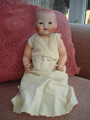 1920S Bisque Head, Composition Body Doll