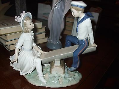 LLADRO,/ Nao Sailor Boy & Girl On A See - Saw