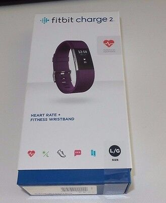 Fitbit Charge 2 Heart Rate and Fitness Wristband Colour: Plum
