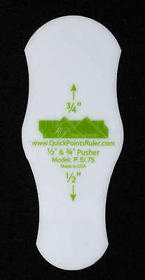 SCALLOP PUSHER ACCESSORY QUILTING RULER, 1/2in. & 3/4in.From Quick Points Rulers