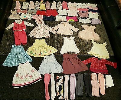 Baby Girls 9-12 months clothes bundle 58 items