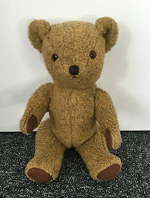 "Deans Childsplay Toys Jointed Golden Teddy Bear 1960s Vintage 14"". Bell In Ear"