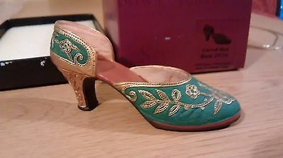 "Collectible Miniature Shoe ""Just the Right Shoe"" by Raine - Carved Heel (Boxed)"