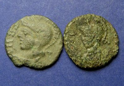 Lot of 2 URBS ROMA AE4  Bronze Uncleaned