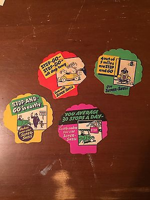 Vintage Shell Gas Advertisement Coasters Lot of 4