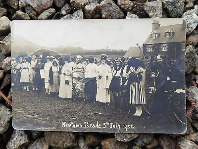 Collectable postcard Newtown (St Boswells) Parade 1922
