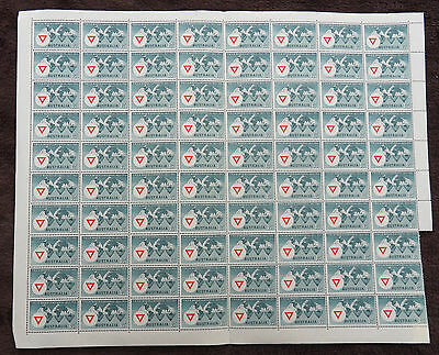 Australia 1954 Anniv Of Red Cross Full Sheet Of 120 Mnh Stamps Unmounted Mint L2