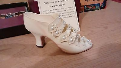 "Collectible Miniature ""Just the Right Shoe"" by Raine - Edwardian Grace (Boxed)"