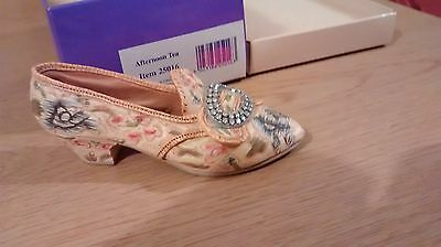 "Collectible Miniature ""Just the Right Shoe"" by Raine - Afternoon Tea (Boxed)"