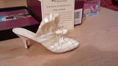 "Collectible Miniature ""Just the Right Shoe"" by Raine - Venus In Pearls (Boxed)"