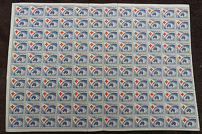 Australia 1954 Anniv Of Red Cross Full Sheet Of 120 Mnh Stamps Unmounted Mint L3