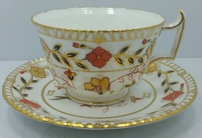 Royal Crown Derby Cup and Saucer Asian Rose c1920's