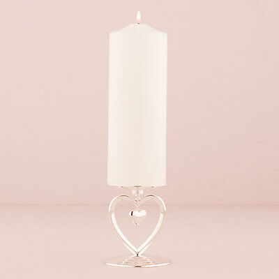 Heart Charm Unity Candle Holder Table Decoration