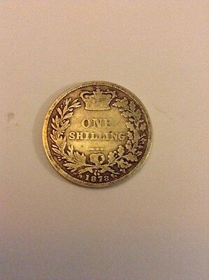 Collectable Silver Queen Victoria One Shilling Coin (minted 1878)