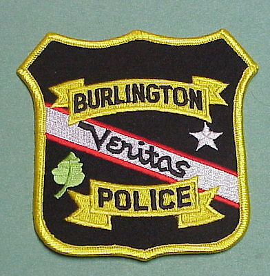 Burlington  Wisconsin  Wi  Police Patch   Free Shipping!!!