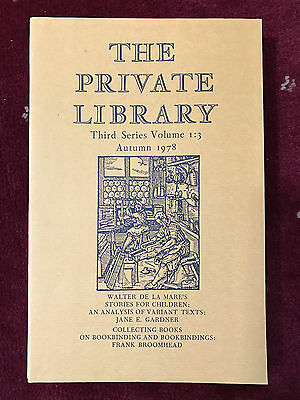 The Private Library 3rd Series Vol.1:3 1978