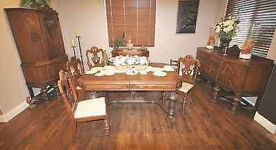 Mahogany Dinning Room Set - H.E. Shaw Furniture vintage 1911 -1933 buffet chairs
