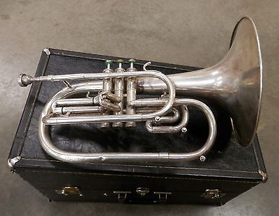 DEG Dynasty Silver Marching F Mellophone !NORESERVE!