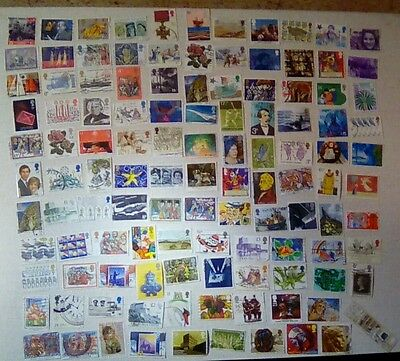 116 GB Commemorative Stamps - Off Paper - All Different - Used