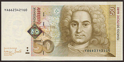 F. R. Germany 50 Deutsche Mark 1996 Replacement YA UNC Ro.309b / P.45