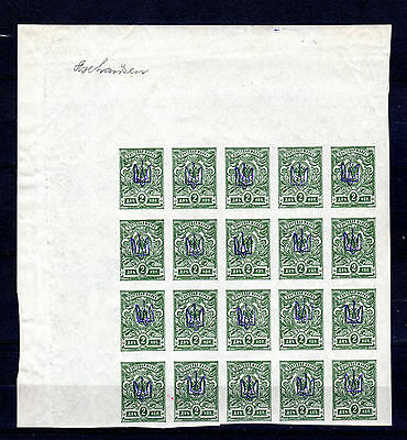 Russia Russland Ukraine Imperf Block Of 20 Mnh Stamps Unmounted Mint