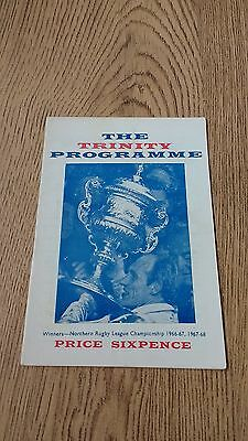 Wakefield Trinity v York Oct 1968 Rugby League Programme