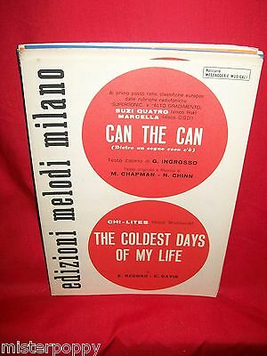 CHI-LITES The coldest days of my life + SUZI QUATRO Can the can 1972 Sheet Music