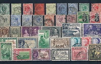 Lot Of Old Stamps From Gibraltar & Fiji ( Cola 21 )