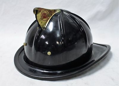 Rare Cairns & Brother Black And Brass Vintage Fire Helmet