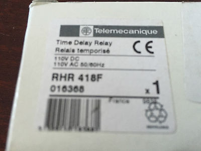 Telemecanique RHR 418F  Time Delay Relay  110V  DC  -  110V  AC  50/60Hz