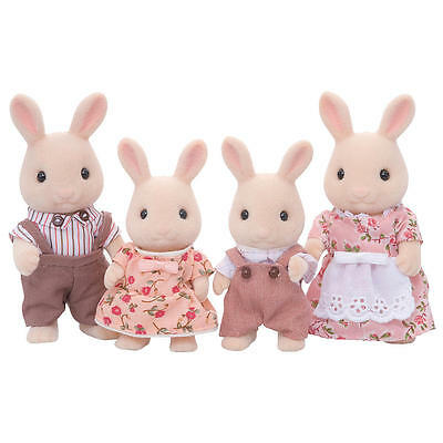 New Epoch Calico Critters SWEETPEA RABBIT FAMILY Dolls 4 Figures Set