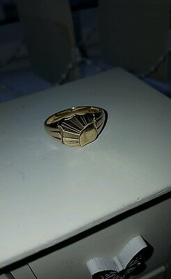 mens signet ring 9ct gold