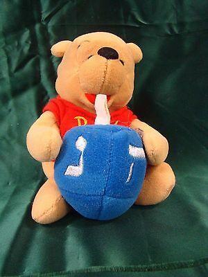 Walt Disney Christmas Winnie The Pooh Plush Holding Christmas Ornament