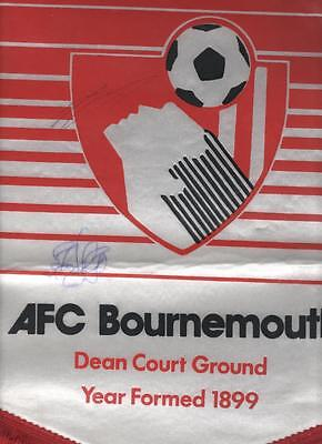AFC BOURNEMOUTH Large Signed Pennant FREE POST UK