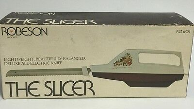 Vintage Robeson The Slicer Electric Knife NIB Corded New R0601
