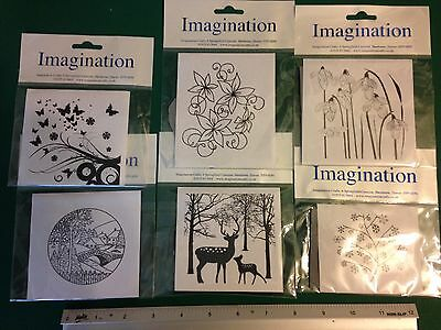 Job Lot Of 6 Imagination Crafts Unmounted Rubber Stamps