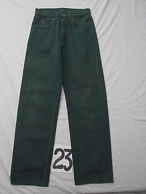 vintage boys levis 550 straight leg green jeans 24.5 X 23.5 orange tab USA MINT