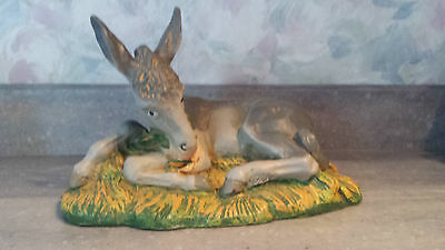 Vintage Large Plastic Nativity Laying Donkey Made in Germany