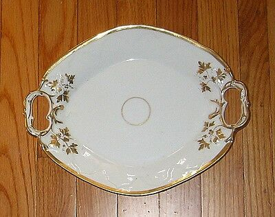 Old Paris style China  OVAL  PLATTER  -  FGC  leaves + berries / grapes  c1880?
