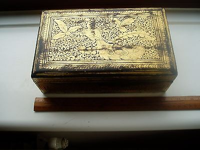 Vintage Gold Lacquered Hinged Trinket Box