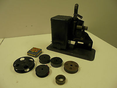 Antique Hand Crank Projector and movies films vintage