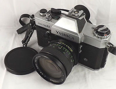 35mm YASHICA ELECTRO AX CAMERA WITH HANIMAR 2.8 AUTO LENS